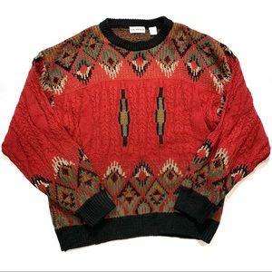 Bachrach Vintage Crewneck Sweater Acrylic Wool XL